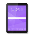 popular top model of modern tablet technological vector image