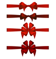 Red Gift Ribbons vector image