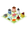 Set of isometric house vector image