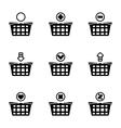 Shopping cart icon set vector image