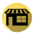 Store sign flat black icon vector image