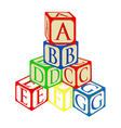 Tower from baby blocks vector image