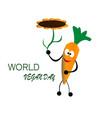world vegan day vector image