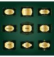 Luxury golden frames and labels set vector image
