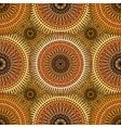 Seamless golden pattern with oriental mandalas vector image