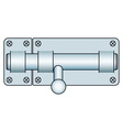Door lock fastening vector image