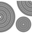 monochromatic ethnic textures round whole half vector image
