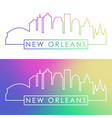 new orlean skyline colorful linear style vector image