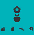 Flower pot icon flat vector image