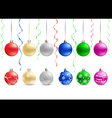 multicolored christmas baubles vector image vector image