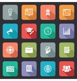 Collection of internet education icons vector image