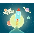Space Rocket Ship Sky Icon Cartoon Modern Flat vector image