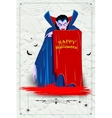 Scary Dracula in Halloween night vector image vector image