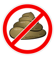 warning sign stop feces vector image vector image