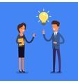 Business concept Cartoon businessman vector image
