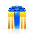gift box with blue bow vector image