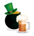 leprechaun hat saint patrick day vector image
