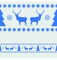 Nordic Christmas pattern vector image