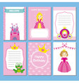 princesses set vector image