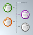 Timeline info graphic round template vector image
