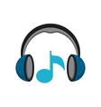 music player sound headset vector image
