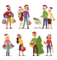 Christmas shopping people vector image