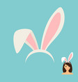 bunny ears accessory icon vector image