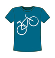 Print of bicycle T-shirts template vector image