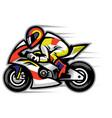 motorcycle race mascot vector image vector image