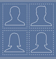 profiles of people silhouettes vector image