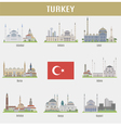 Cities of Turkey vector image