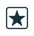 star icon Rounded squares button vector image