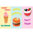 Mix sweets vector image