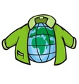globe jacket vector image