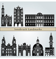 Innsbruck landmarks and monuments vector image vector image