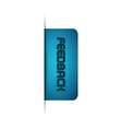 Modern of feedback button vector image vector image