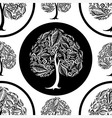 seamless tree pattern 014 vector image