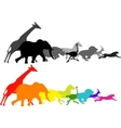 wild animal racing vector image vector image
