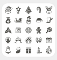 Christmas and Winter icons set vector image