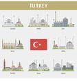 Cities of Turkey vector image