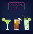 Cocktail bar set vector image