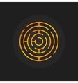 Golden circle maze icon vector image