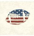 grunge american football symbol vector image