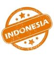 Indonesia grunge icon vector image