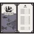 menu with sailboat vector image