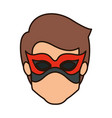 colorful silhouette with faceless kid superhero vector image