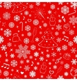 Seamless pattern with snowflakes and xmas symbols vector image vector image
