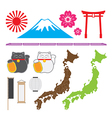 Japan symbol set vector image