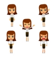 set of funny cartoon businesswoman vector image vector image