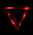bright colored neon triangle symbol or icon vector image
